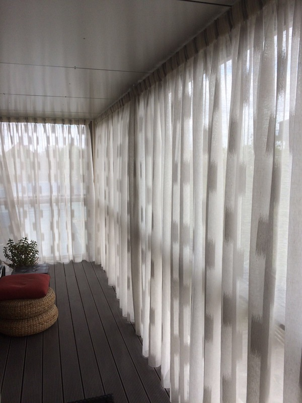 Pencil Pleat Voiles - North London