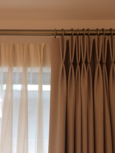 Twin Pleated Curtains Highgate