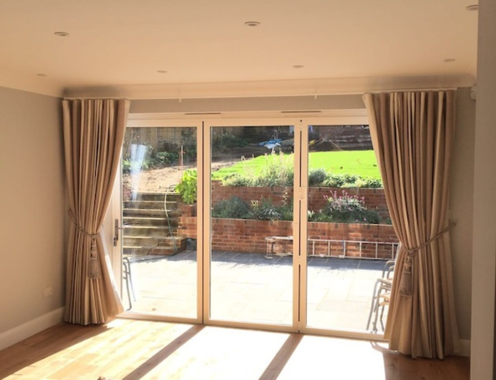 Twin Pleat Curtains & Wood Blinds Barnet