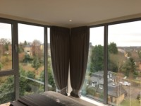 Twin pleat curtains fitted at a property in New Barnet - EN5.