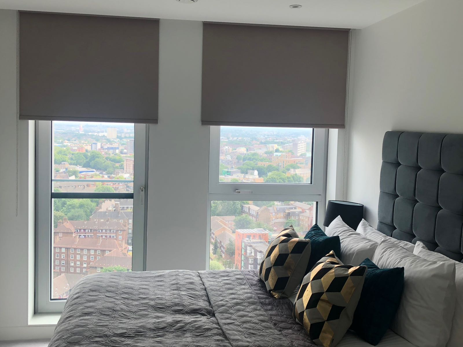 Voiles and blackout roller blinds fitted to a home in Kennington, Lambeth.