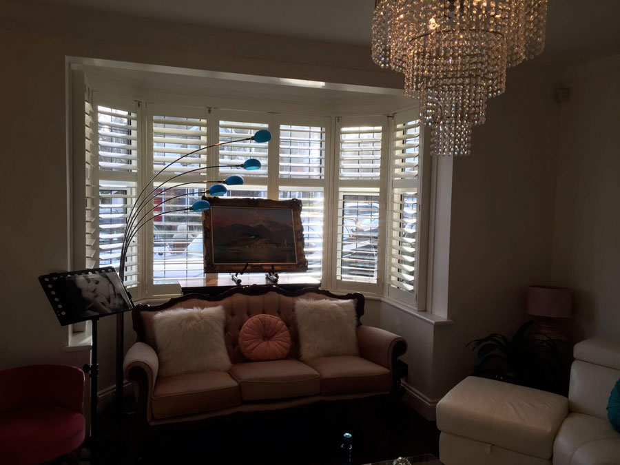 Louvre Plantation Shutters for a property in Finchley, North London.
