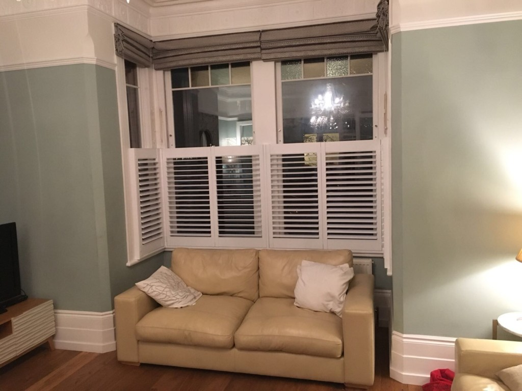 All kinds of blinds have just fit these made to measure cafe style shutters at a property in Barnet. Great Prices - Free Surveys