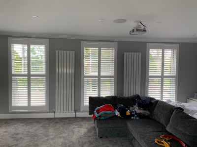 All Kinds of Blinds have just installed these deco frame shutters in Romford Essex