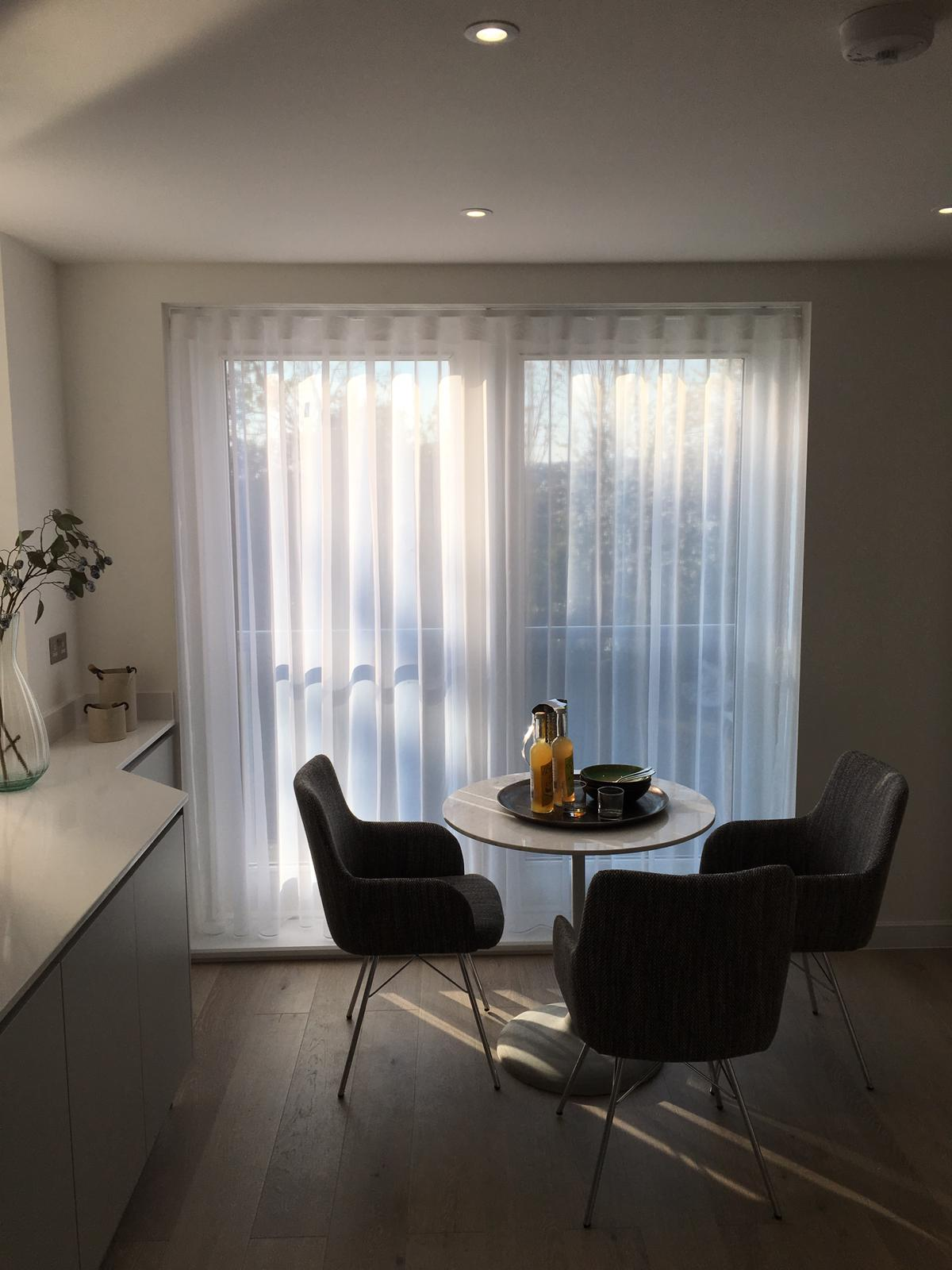 All Kinds of Blinds have just installed these voiles at a property in Dollis Park , Finchley