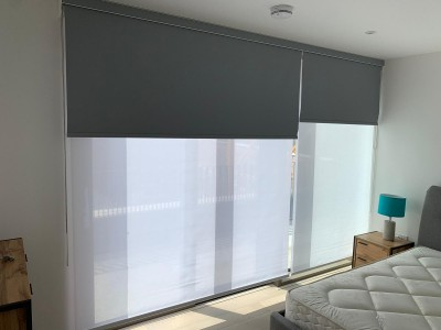 Double cassette roller blinds east london