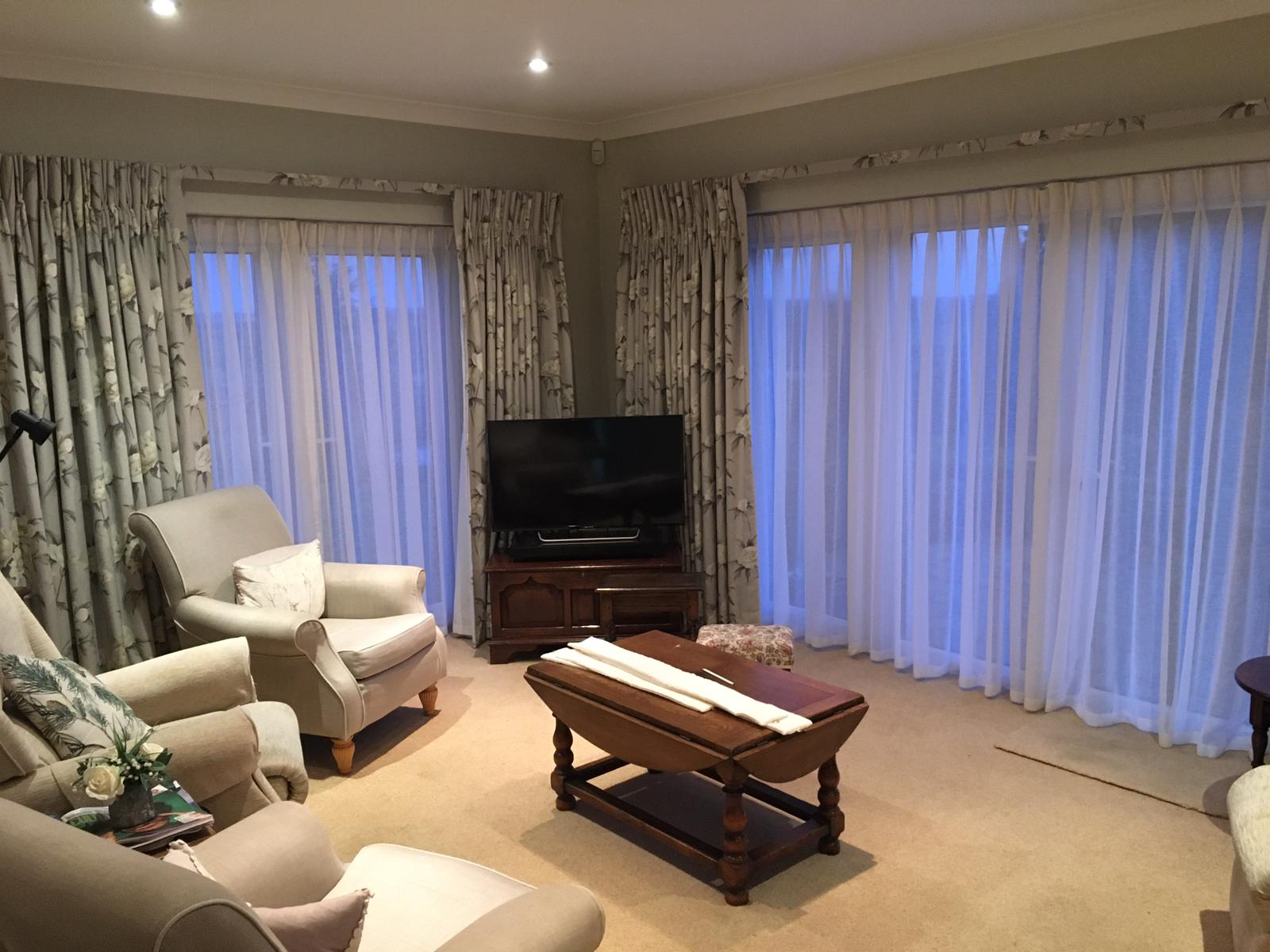 Covered lath curtains Epping