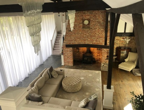 Voile Curtains Barn Conversion